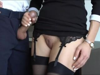 Crazy Secretary With Tight Pussy Jerking Off Her Boss Cock On Vacation