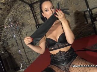 Female Domination – Glove Mansion – CUM ON MY LONG LEATHER GLOVES