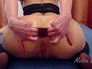 Kitty25 anal prolapse loose during dildo TAP