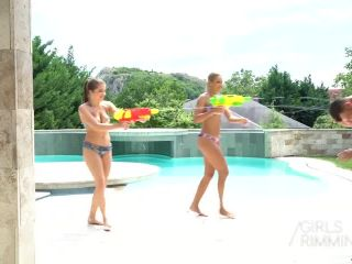 GirlsRimming presents Cherry Kiss, Joe, Renata Fox in Curiosity Rimmed The Cat —