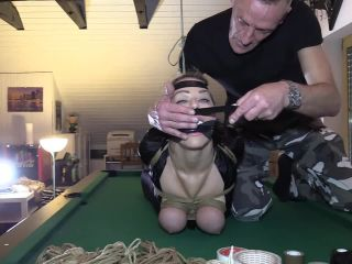 30 Minutes Hogtie Challenge for JJ Plush - tied by Mario