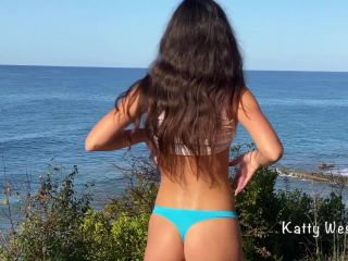 Katty West - Cute Girl Pisses Powerfully in the Mountains outside [FullHD 1080P] - Screenshot 3