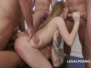 LegalPorno presents 10on1 ANAL, DAP, TP gangbang with Kira Thorn with Big Gapes and 10 Swallows GIO605 —