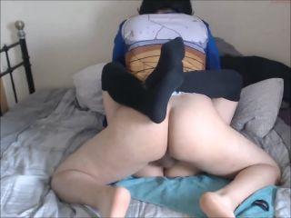 German couple dressed in cosplay fuck on webcam