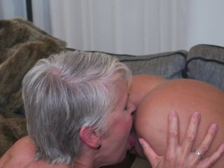 Lady Sextasy EU 66, Sheena 25 - 2 old and young lesbians playing with eachother