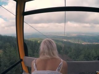 ManyVids Webcams Video presents Girl KateTruu in Public BJ and Anal Creampie in Ski Lift and Lot of Fuck in Mountain Hike