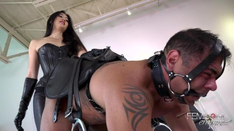 Mae Ling - Strap - on Pony Ride (1080p)