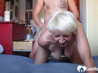 742 - Granny Gets Eaten Out And Brutally Pounded From Behind