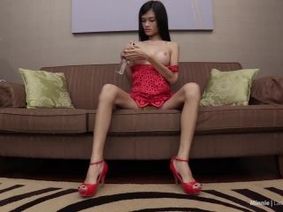 Minnie Sexy Red Dress Barebacking