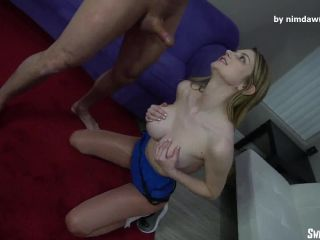 mature femdom spanking Sweet Femdom – Bunny Colby Ball Breaking Tease Part 2, ball squeezing on cumshot