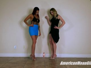 Feet – The Mean Girls – Squishing Fatso For His Life Insurance Money – Princess Mia and Princess Amber