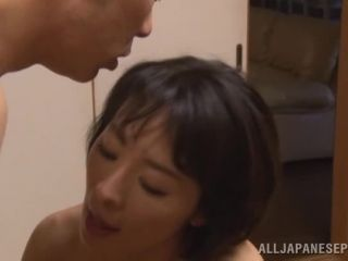 Awesome Naughty Asian milf Hisae Yabe likes her husband watching in group Video Online