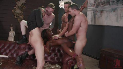 Ana Foxxx - Hot Fit Slut Ana Foxxx Bound, Fucked, DP'd and Stuffed Airtight (720p)