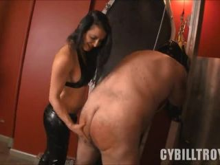 Abs – Cybill Troy FemDom Anti-Sex League – Caned by Mistress Alicia – Caning