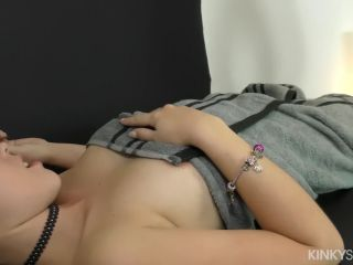 Zoe doll enjoys her erotic massage and gets a load on her chest