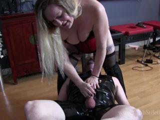 Online Fetish video Bbw – Club Stiletto FemDom – April's Ball Battered Ass Licker – Mistress April