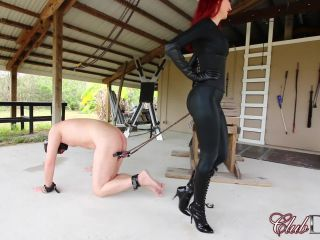 Clubdom – Kendra Punishes Her Slave: Caning