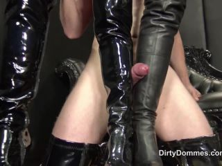 DirtyDommes – Teased and milked leather slut part 2 – Fetish Liza, Nikki Whiplash – Forced Orgasm