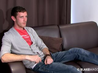 Dark haired corey m wanks his huge cock for the cra