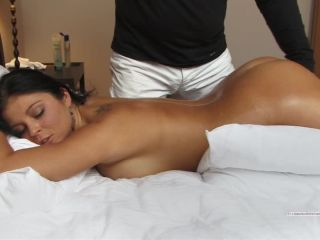 Christina tied on her stomach - finger pussy fucked