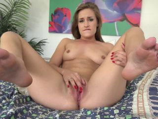 April brookes masturbates while showing off hot red toes