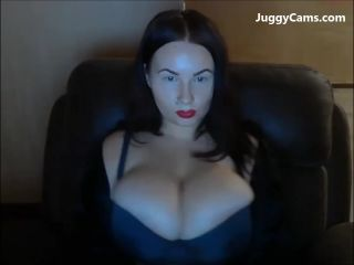 Goth girl huge tits on cam 1 080p