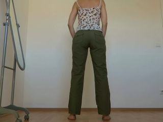 Cotton Pants Wetting, Fisting With Mylene