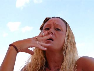 Natalie K - Smoking fingering my pussy with JOI