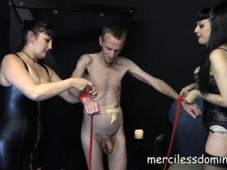 Bondage – Merciless Dominas – Pathetic Old Slave Starring Mistress Dee and Ira Von Vampira