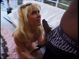 Black stud with huge cock in hooker's mouth