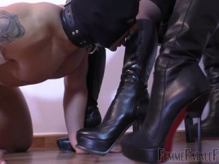 Porn online Leather Knee Boots – Femme Fatale Films – Suffer For Sucking – Super HD – Part 2 – Divine Mistress Heather and Mistress Johanna
