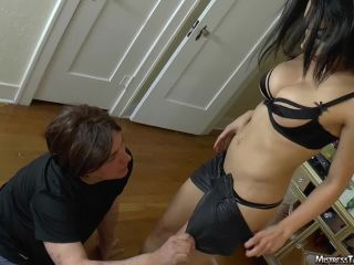 High Heels – Mistress Tangent – Leather bikini and stilletto foot domination and bisex humiliation from