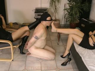 Lady Sofia and Lady Silvana – Amusement For The Mistresses (MP4) [Foot Gagging, Foot Worship, Humiliation]