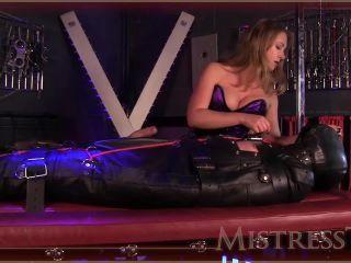 cruel leather bondage ruined orgasm