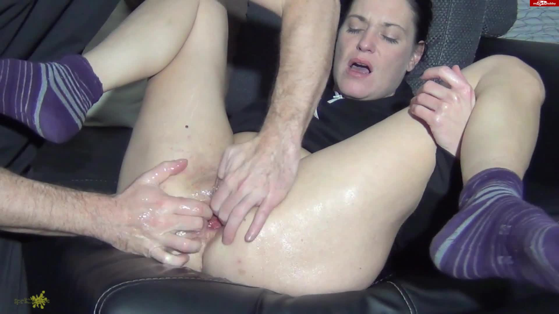 Tiny Lesbian Anal Fisting