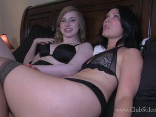 Pantyhose/stockings – Club Stiletto FemDom – Lick Our Armpits Clean Bitch – Goddess Mia and Princess Lily