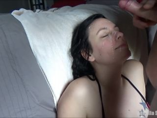 Camilla Gets Her Face Covered In Cum - Homemade Facial Cumshot Compilation