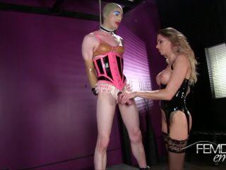 Vicious Femdom Empire – Juelz Ventura – Rubber Bitch Transformation – Sissy Training, Milking, beautiful foot fetish on handjob