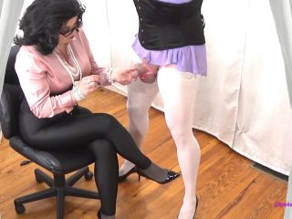 Forced By Step-Mommy - Sissy Squirts All Over My Spandex and Blouse - forced orgasm on femdom porn