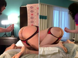 Crazy booty MILF rough double anal fisting domination femdom