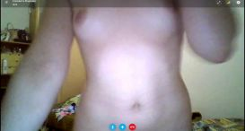 Skype chat with a pretty girl