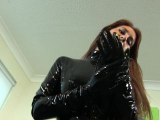 Hot girl wearing latex gloves-quality porn