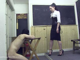 ball busting chicks: sophia: old school discipline!