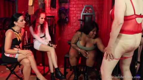 Lady Bellatrix, Mistress Esme and Miss Tiffany Naylor starring in video (Show Us Your Tits, Sissy Bitch) [HD 720P]