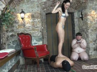Trampling One Slave while Using Another as Her Ashtray