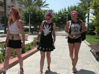 chastity babes holiday in spain unbelting