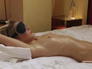 Rose tied and blindfolded gets fucked
