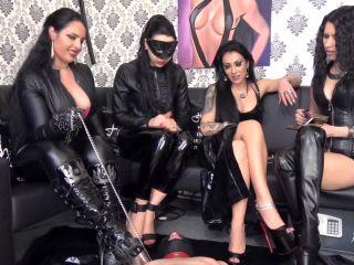 KinkyMistresses – Goddess Ezada Sinn, Mistress Gaia, Mistress Kennya, Mistress Lexa – 4 ladies and 1 Slave – Human Ashtray