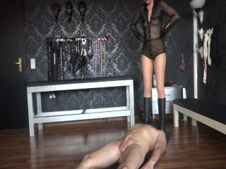 femdom feet fetish , goddess slave training on brunette