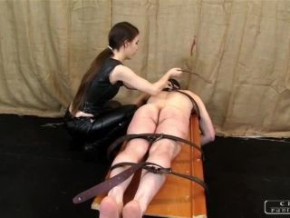 Tara Tainton – CRUEL PUNISHMENTS – SEVERE FEMDOM – An ass punished in two ways – Mistress Victoria